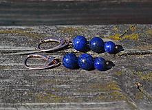 Lapis Lazuli pozlátené náušnice Ag 925