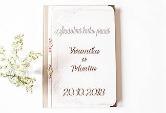 """Papiernictvo - Svadobná kniha prianí """" Veronika """" - 9733787_"""