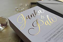 Papiernictvo - Svadobné oznámenie Gold & White - 9735782_