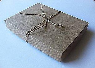 Obalový materiál - Eko krabička 20x15x2,5 cm - 9734497_