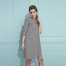 Šaty - Oversize košele (čierno biela kocka) - 9735228_