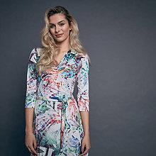 Šaty - Zavinovacie šaty farebné - 9735466_