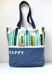 Veľké tašky - Veľká taška s pruhmi - 9735956_