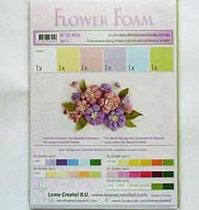 Modelovacie hmoty - Foamiran - flower foam, set 1, hrúbka 0,8 mm, A4, 6 ks - 9735793_