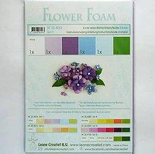 Modelovacie hmoty - Foamiran - flower foam, hrúbka 0,8 mm, A4, 6ks  (set 2) - 9735941_