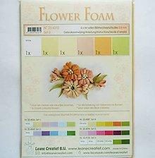 Modelovacie hmoty - Foamiran - flower foam, hrúbka 0,8 mm, A4, 6ks  (set 3) - 9736108_