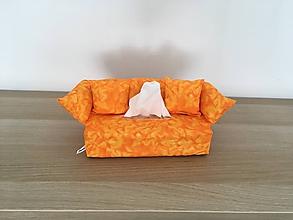 Krabičky - Obal na servítky - Orange Predaný - 9735395_