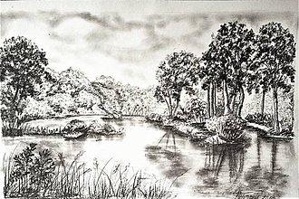 Kresby - leto pri vode II - 9734812_