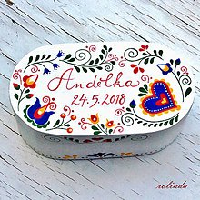 Krabičky - Malovaná šperkovnice - slovácko - 9735209_
