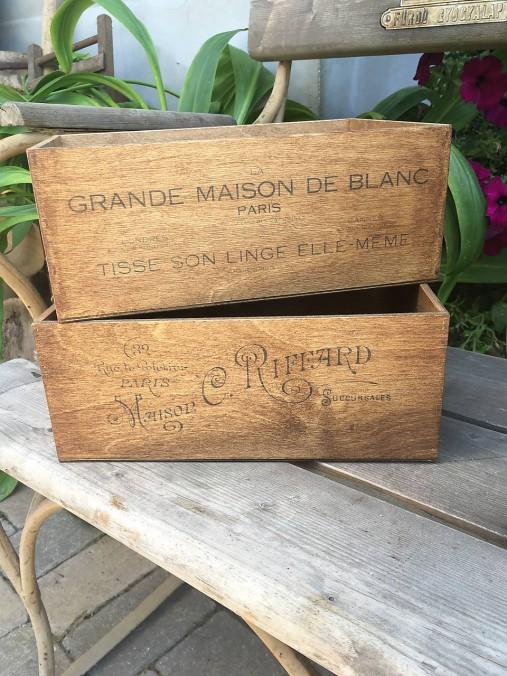 """Set """"starých boxov Grande Maison """""""
