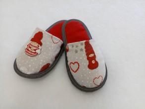 Obuv - Papuče vianočná palculienka - 9737019_