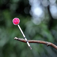 Ozdoby do vlasov - Sponka do vlasov Ružová neónová kvetinka - 9735876_