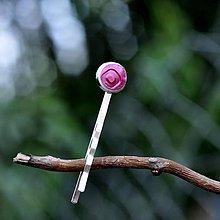 Ozdoby do vlasov - Sponka do vlasov Ružová perleťová - 9735911_