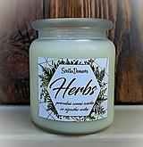 Svietidlá a sviečky - Vonná sviečka zo sójového vosku v skle - Herbs - 250g/70hod - 9734650_