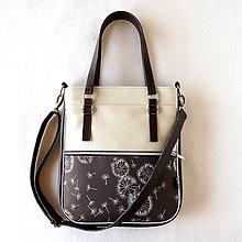 Veľké tašky - Basic - Zipp - S púpavami - 9735586_
