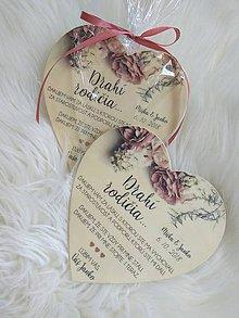 Darčeky pre svadobčanov - Magnetka ako poďakovanie pre rodičov - 9737118_