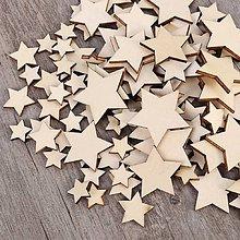 Papier - drevený výrez hviezdička - 9735170_