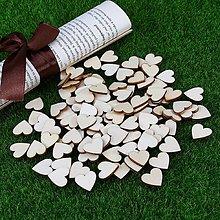 Papier - drevený výrez srdce 20mm - 9735296_