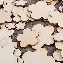 Papier - drevený výrez kvet - 9735424_