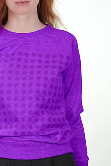 Mikiny - Chateee - dámska komunikačná mikina - fialová - 9736595_