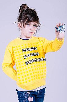Mikiny - Chateee - detská komunikačná mikina - žltá - 9736681_