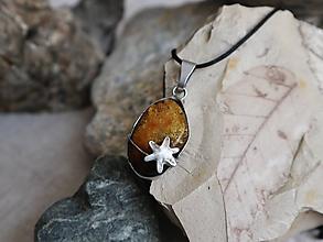 Náhrdelníky - Kadiaľ chodia hviezdy (pravý baltský jantár) - 9737161_