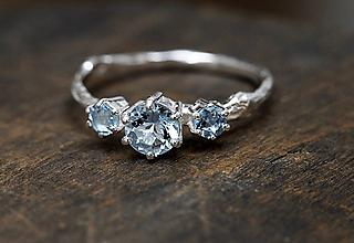 Prstene - Větvičkový s pohádkovými akvamaríny - 9737217_