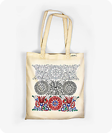 Nákupné tašky - Bavlnená taška Tri obdobia kvetu - 9736112_