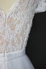 Šaty - Svadobné šaty s transparentým živôtikom a veľkou tylovou sukňou - 9736065_