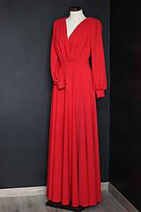 Šaty - Spoločenské šaty s dlhým rukávom a kruhovou sukňou rôzne farby - 9736117_