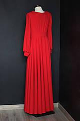 Šaty - Spoločenské šaty s dlhým rukávom a kruhovou sukňou rôzne farby - 9736119_