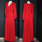 Šaty - Spoločenské šaty s dlhým rukávom a kruhovou sukňou rôzne farby - 9736120_