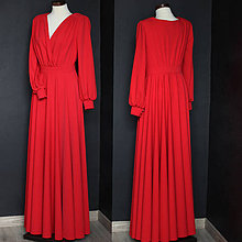 Šaty - Spoločenské šaty s dlhým rukávom a kruhovou sukňou rôzne farby -  9736120  0f05e95087c