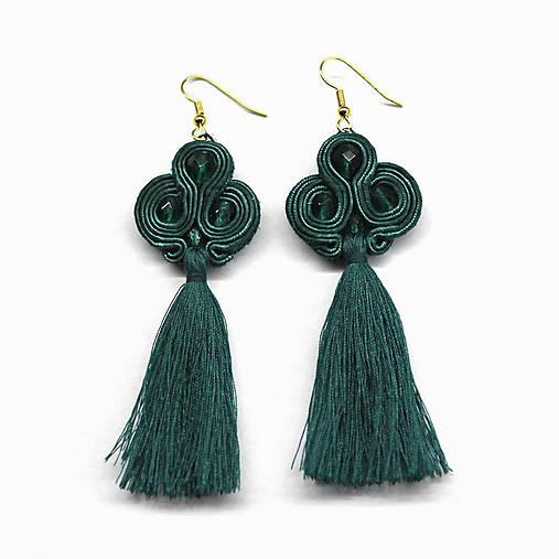 4afe46c1f LOLA - zelené náušnice so strapcom / dominicka_jewelry - SAShE.sk ...