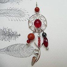 Náhrdelníky - Lapače snov - tri farby (8cm - Červená) - 9734613_