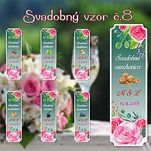Darčeky pre svadobčanov - Svadobná pálenka vzor 8 - 9735121_