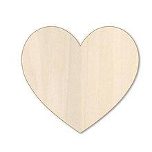 Polotovary - Srdiečko - drevený výrez - 9737376_