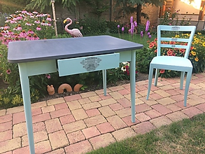 Nábytok - Retro set: stôl a stolička - 9735518_