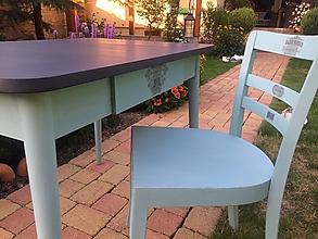 Nábytok - Retro set: stôl a stolička - 9735519_