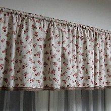 Úžitkový textil - Vintage ružičky na režnej - dekoračný záves na okno 270x45 - 9736892_