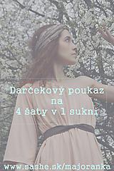 Šaty - Darčekový poukaz - 9736428_