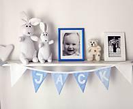 Detské doplnky - Girlanda zo zástaviek s menom - 9737098_