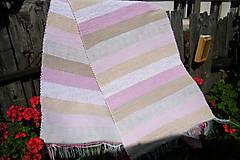 Úžitkový textil - Tkaný koberec hnedo-ružový - 9737106_