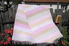 Úžitkový textil - Tkaný koberec hnedo-ružový - 9737109_