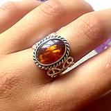 - Vintage Garnet Hessonite Ring / Vintage prsteň s granátom hessonitom /0130 - 9737792_