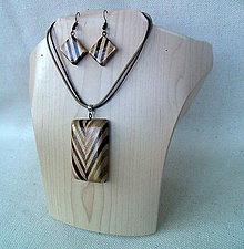Sady šperkov - drevený prívesok - 9739557_