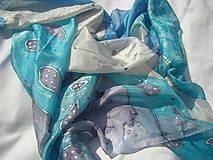 Šatky - Lady dreaming in Blue - 9739926_
