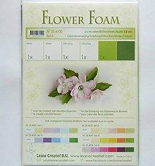 Modelovacie hmoty - Foamiran - flower foam, hrúbka 0,8 mm, A4, 6ks  (set 6) - 9739002_