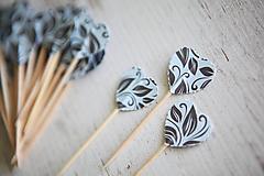 Dekorácie - Candy bar - napichovátka (zápich) - ornament - 9738225_