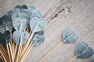 Dekorácie - Candy bar - napichovátka (zápich) - modré - 9738181_